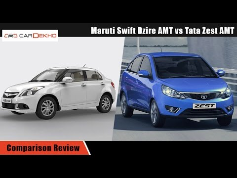 Maruti Swift DZire AMT vs Tata Zest AMT  | Comparison Video | CarDekho.com