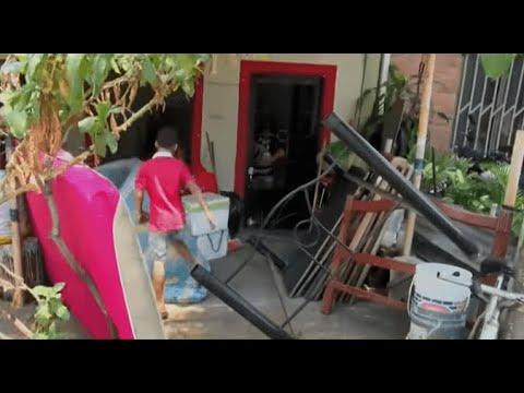 VIDEO | En plena cuarentena, Policía desaloja a una familia que no pagó $28.000 de arriendo