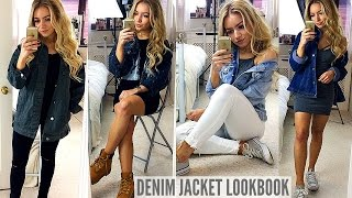 DENIM JACKET OUTFIT IDEAS! LOOKBOOK / HOW I STYLE!