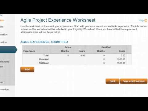 How to fill PMI-ACP Application at PMI   PMI-ACP   ProplanX ...