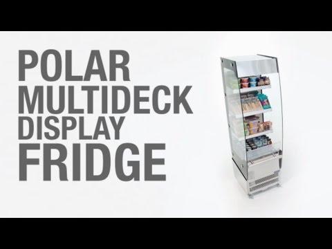 Video Polar multideck display koelkast - 220 liter - CD239