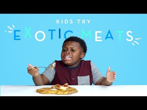 Kids Try Exotic Meats | Kids Try | HiHo Kids