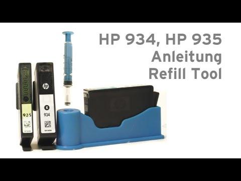 HP 934, HP 935 nachfüllen Refill Tool - HP Officejet Pro 6320, Pro 6820, Pro 6830
