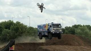 Backflip over Red Bull KAMAZ truck in Russia