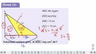Eğitim Vadisi TYT Geometri 10.Föy Üçgende Alan Konu Anlatım Videoları
