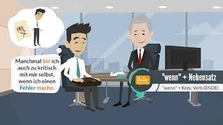 Deutsch lernen Niveau A2, B1 | das Vorstellungsgespräch | Was sind Ihre Stärken und Schwächen?