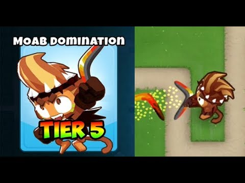Bloons TD 6 - MOAB DOMINATION - 5TH TIER BOOMERANG