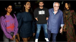 India's Most Wanted Special Screening Arjun Kapoor, Malaika Arora, Boney Kapoor, Khushi & Sonam Kap