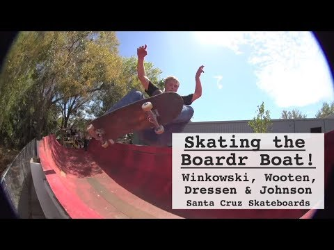 Skating a BOAT?! Winkowski, Wooten & crew at The Boardr Boat