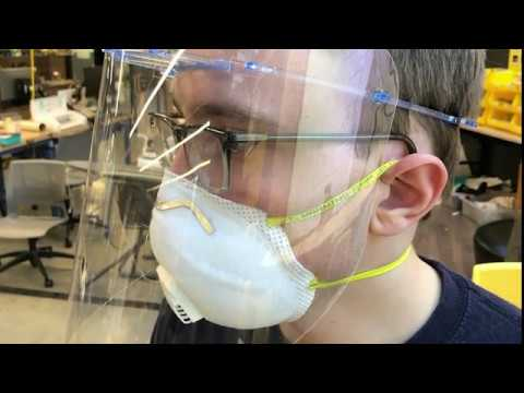 Producing face shields at Georgia Tech