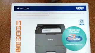 Printer Brother HL-L5100DN UNBOXING and TEST/ Drukarka