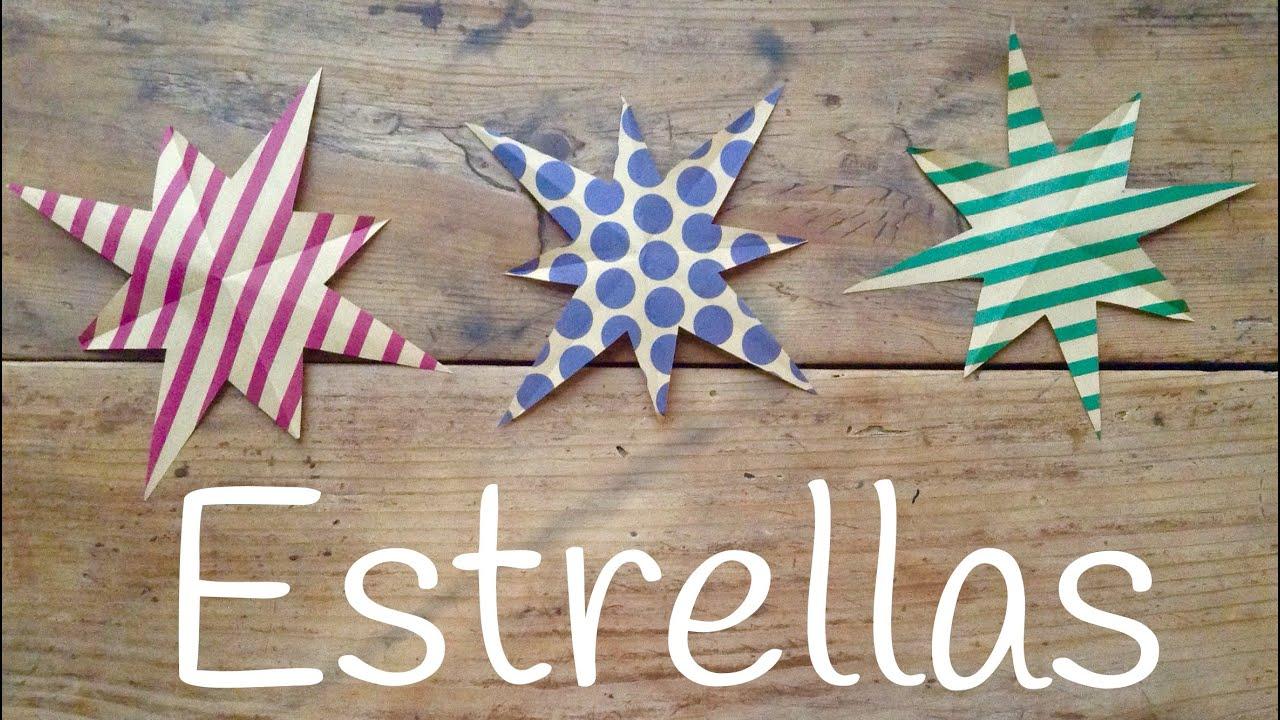Estrella de papel  | Kirigami para niños paso a paso