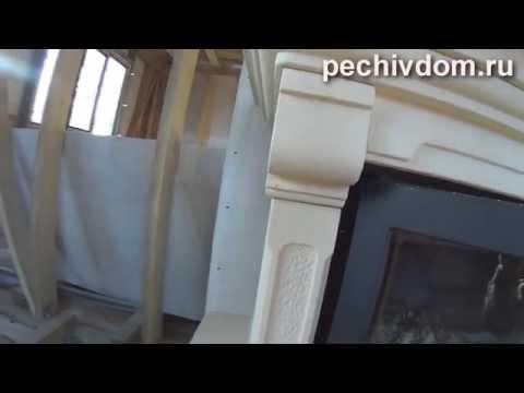 Установка Камина в каркасном доме, разводка горячего воздуха