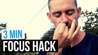 3 Minute instant FOCUS hack (Easy BREATHING exercise)