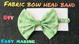 Fabric Bow Headbands For Babies||easy Making Tutorial