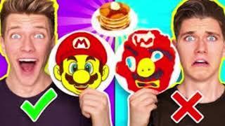 ART CHALLENGE !Learn How To Make Mario Odyssey Star Wars Jedi Nintendo Food DIY Pancake