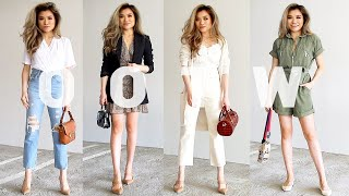 SUMMER To FALL Outfits Of The Week Lookbook | Summer To Fall Transitional Outfit Ideas | Miss Louie