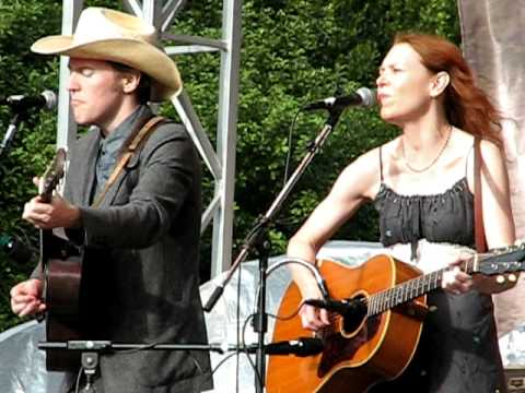 "Gillian Welch and David Rawlings playing ""Red Clay Halo"" at Hardly Strictly Bluegrass"
