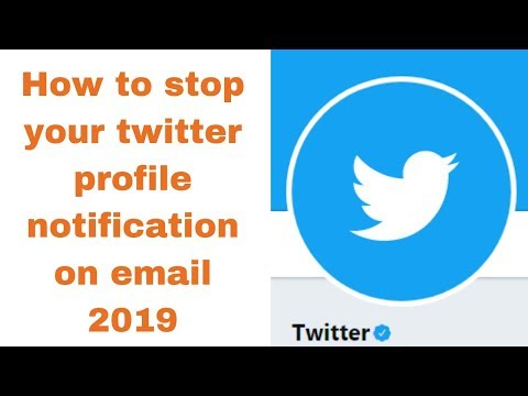 How to stop your twitter profile notification on email 2019
