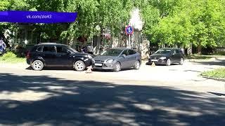 Обзор аварий  Три автомобиля у мясокомбината  Место происшествия 21 06 2018