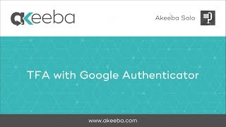 Watch a video on TFA with Google Authenticator [02:41]
