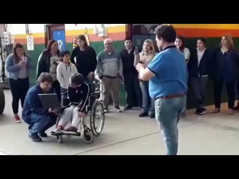 VIDEO General Madariaga: alumnos de una Técnica construyeron una tricicleta solidaria