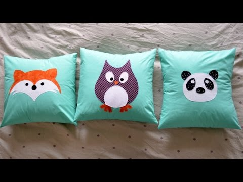 Cojines infantiles con aplicaciones - Applique pillows