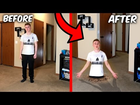 SINK INTO THE GROUND TRICK! (WTF IT ACTUALLY WORKS!)