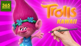 COMO DIBUJAR UN TROLL KAWAII PASO A PASO - Dibujos kawaii faciles - - How to draw a Troll