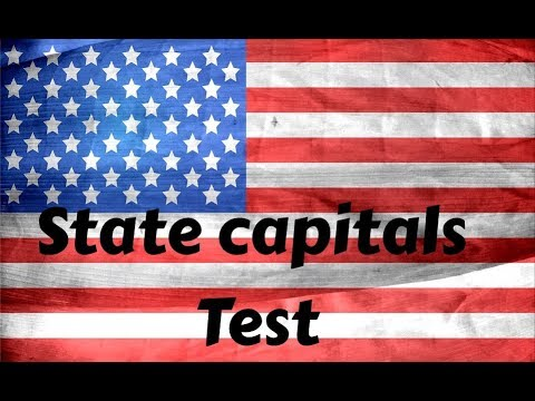 United States state capitals - Full test