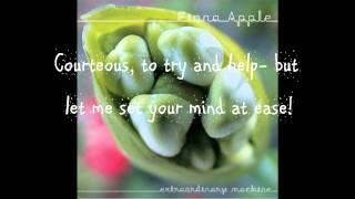 Fiona Apple- Extraordinary Machine with On-Screen Lyrics