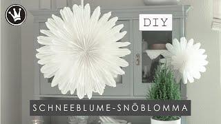 DIY - WEIHNACHTS- / WINTERDEKO   schwedische SCHNEEBLUME aus Backpapier   SNÖBLOMMA   DekoideenReich