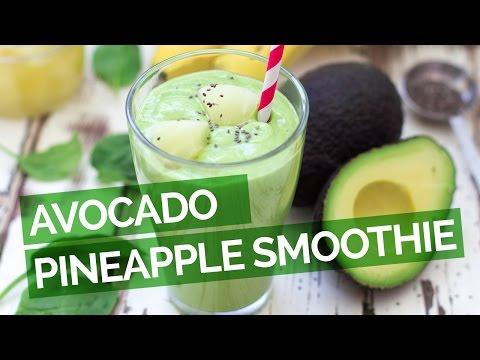 Video Avocado Pineapple Smoothie Recipe
