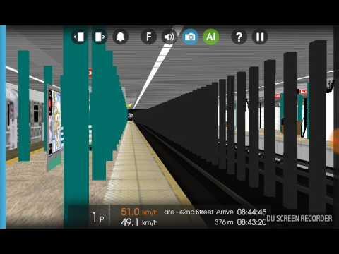 Hmmsim 2 MTA R142 2 Train from Sterling Street to - смотреть онлайн