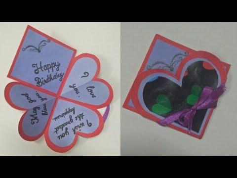 Birthday Card For Fathers 4 Way Twisting Easel Card Tutorial Diy