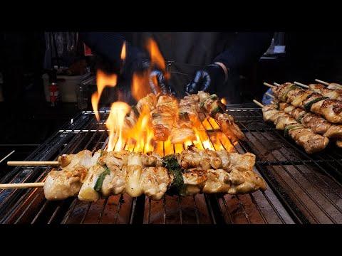 grilled chicken skewers & shrimp skewers / korean street food