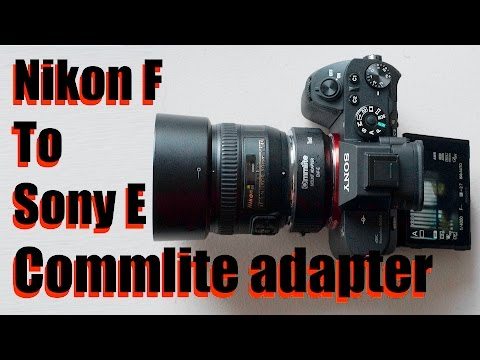 Commlite Nikon F to Sony E Adapter - with Autofocus & Stabilisation