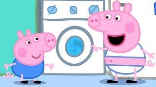 Свинка Пеппа на русском все серии подряд - Свинка Пепп моет одежду! - Мультики