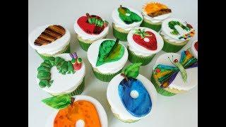 The Very Hungry Caterpillar Cupcakes. Handmade And Handpainted