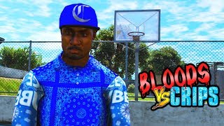 BLOODS VS CRIPS GANG LAND WAR ZONE #2 (GTA5)