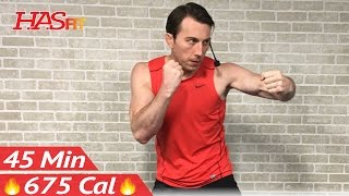 45 Min Ultimate Cardio Kickboxing Workout - MMA Training & UFC Kickbox Workout Class for Women & Men by HASfit