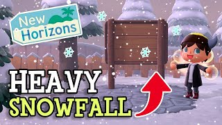 Animal Crossing New Horizons: SNOW & HEAVY SNOWFALL (WINTER DETAILS & Everything You Need To Know)