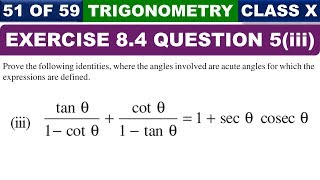 Exercise 8.4 Question 5  Part 3 Introduction to Trigonometry Class 10 Maths