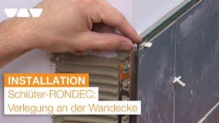 Dekorativer Kantenschutz mit Schlüter®-RONDEC Fliesenprofilen