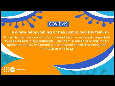 AUDIO message on pregnancy and health appointments from UNFPA Caribbean during #COVID19 pandemic