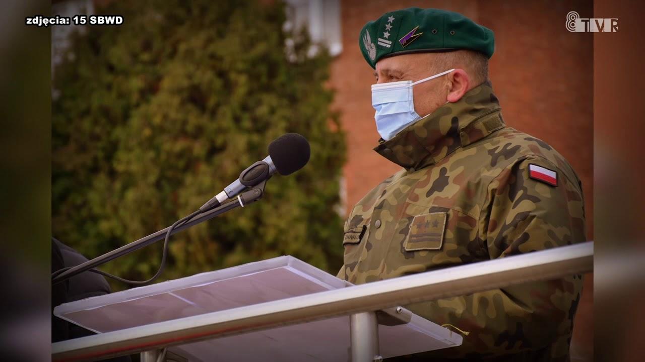 Przysięga wojskowa w 15 SBWD