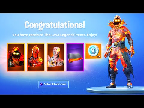 the new lava legends pack in fortnite - new lava pack fortnite price