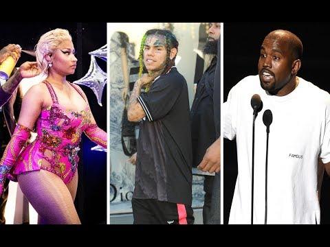 Nicki Minaj Dressing Room gets SHOT UP at 6ix9ine Music Video Shoot. Kanye Was Also There.