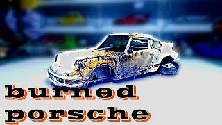 Restoration Damaged Porsche 911 Carrera – burned old super model car
