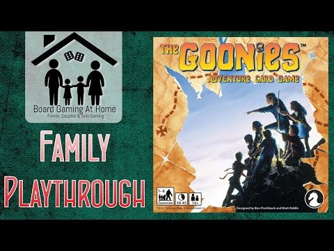 BoardGamingAtHome Family Playthrough of The Goonies Adventure Card Game